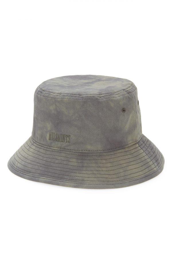 Allsaints Tie Dye Cotton Bucket Hat - Black