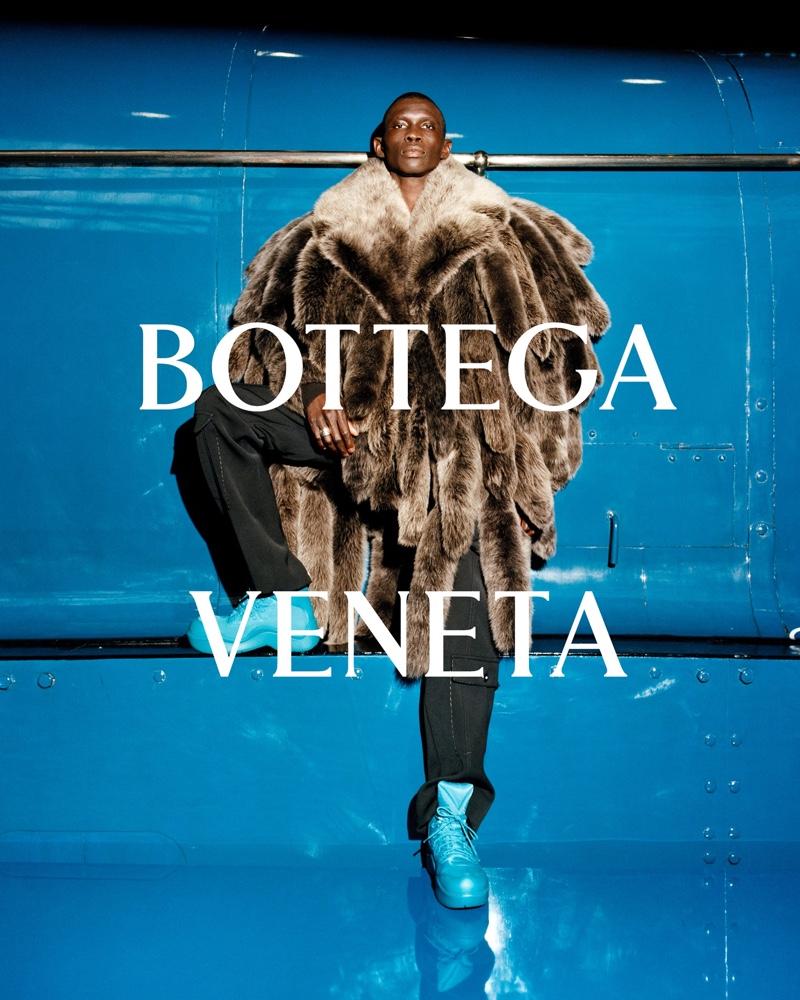 Fernando Cabral stars in Bottega Veneta's fall-winter 2021 campaign.