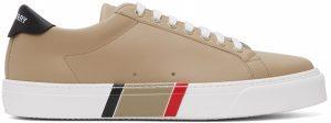 Burberry Beige Bio-Based Striped Sole Sneakers