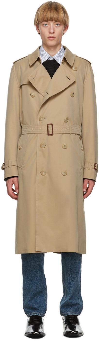 Burberry Beige Kensington Long Trench Coat