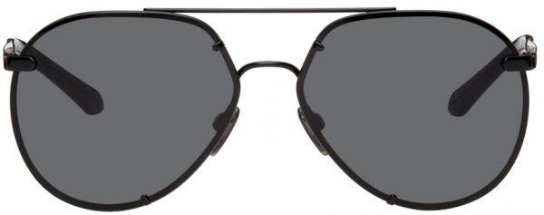Burberry Black Aviator Sunglasses