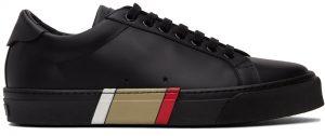 Burberry Black Bio-Based Stripe Sole Sneakers