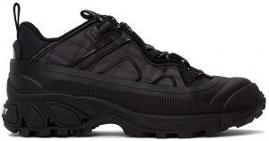 Burberry Black Check Technical Arthur Sneakers