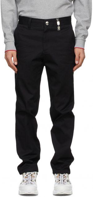 Burberry Black Dover Logo Plaque Trousers