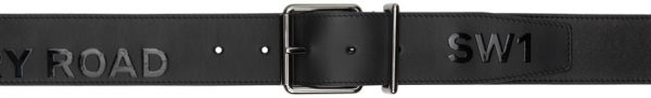 Burberry Black 'Horseferry' Mack Belt
