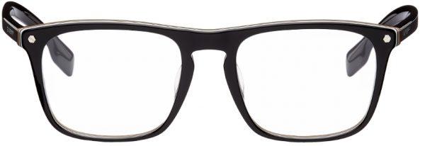 Burberry Black Icon Stripe Square Glasses