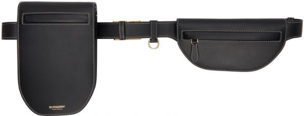 Burberry Black Leather Olympia Belt Bag