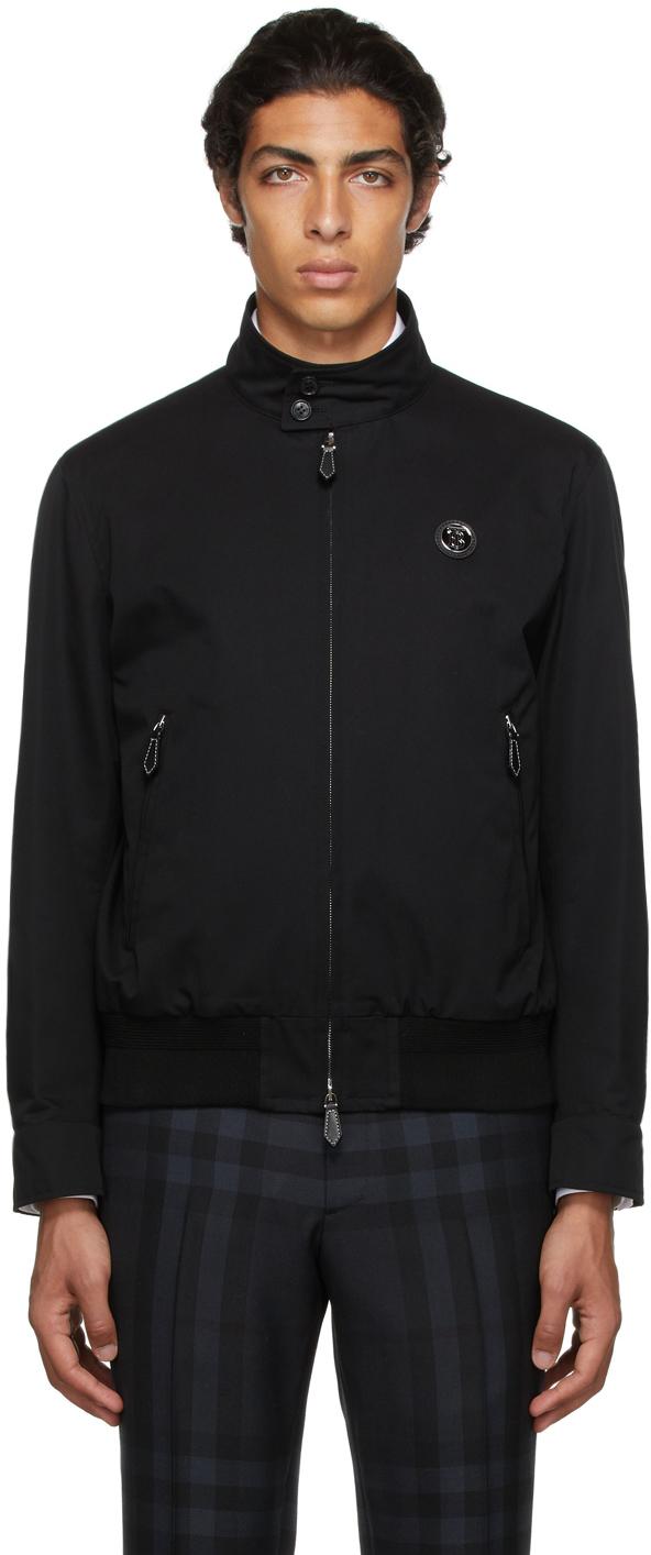 Burberry Black Monogram Motif Harrington Jacket