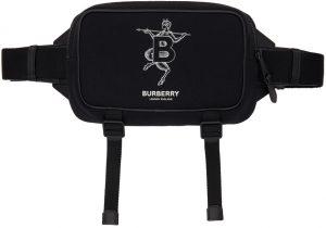 Burberry Black Mythical Alphabet 'B' Faun West Bum Bag