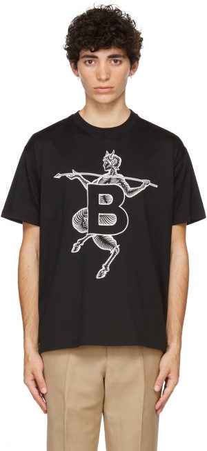 Burberry Black Mythical Alphabet Large 'B' T-Shirt