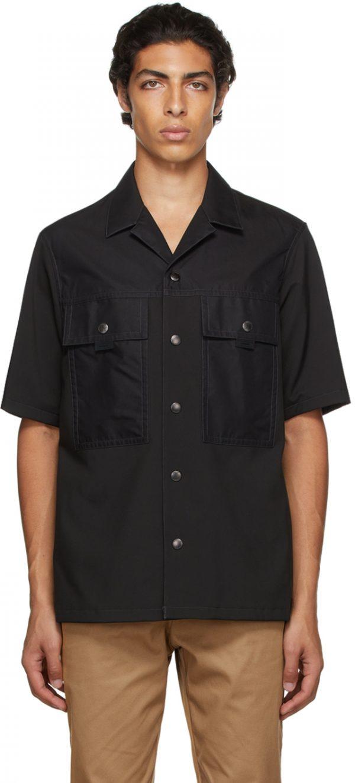 Burberry Black Nylon Short Sleeve Shirt