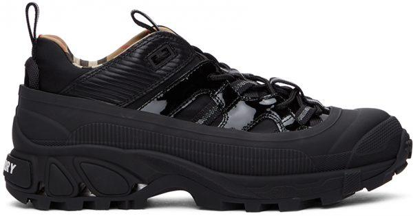 Burberry Black Patent Arthur Sneakers
