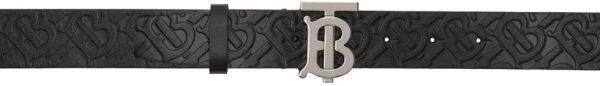 Burberry Black Plaque Belt
