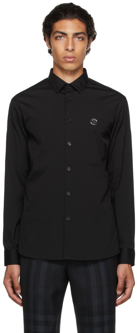 Burberry Black Poplin Monogram Motif Shirt