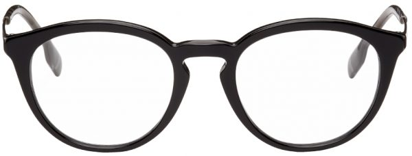 Burberry Black Round Glasses