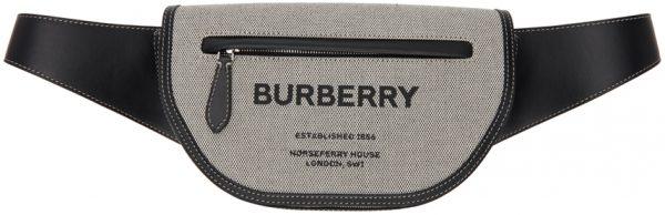 Burberry Black Small 'Horseferry' Olympia Bum Bag