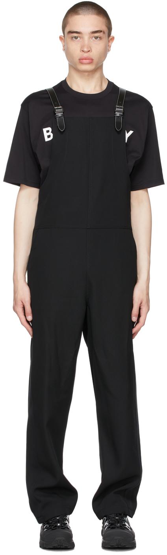 Burberry Black Wool Overalls