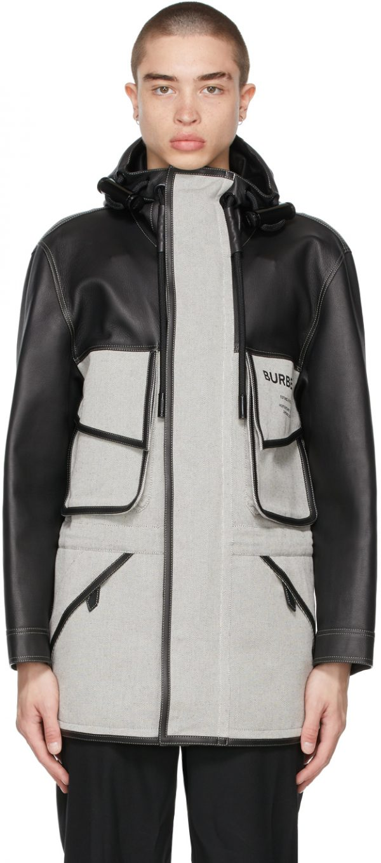 Burberry Black & White 'Horseferry' Jacket