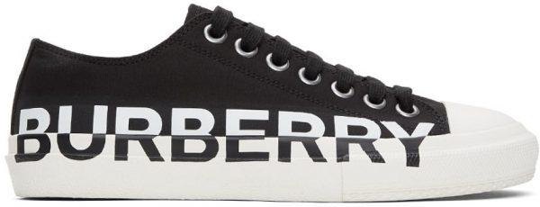 Burberry Black & White Larkhall M Logo Sneakers