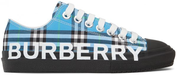 Burberry Blue Check Larkhall Sneakers