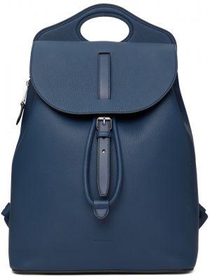 Burberry Blue Leather Pocket Backpack