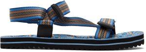Burberry Blue Monogram Print Sandals