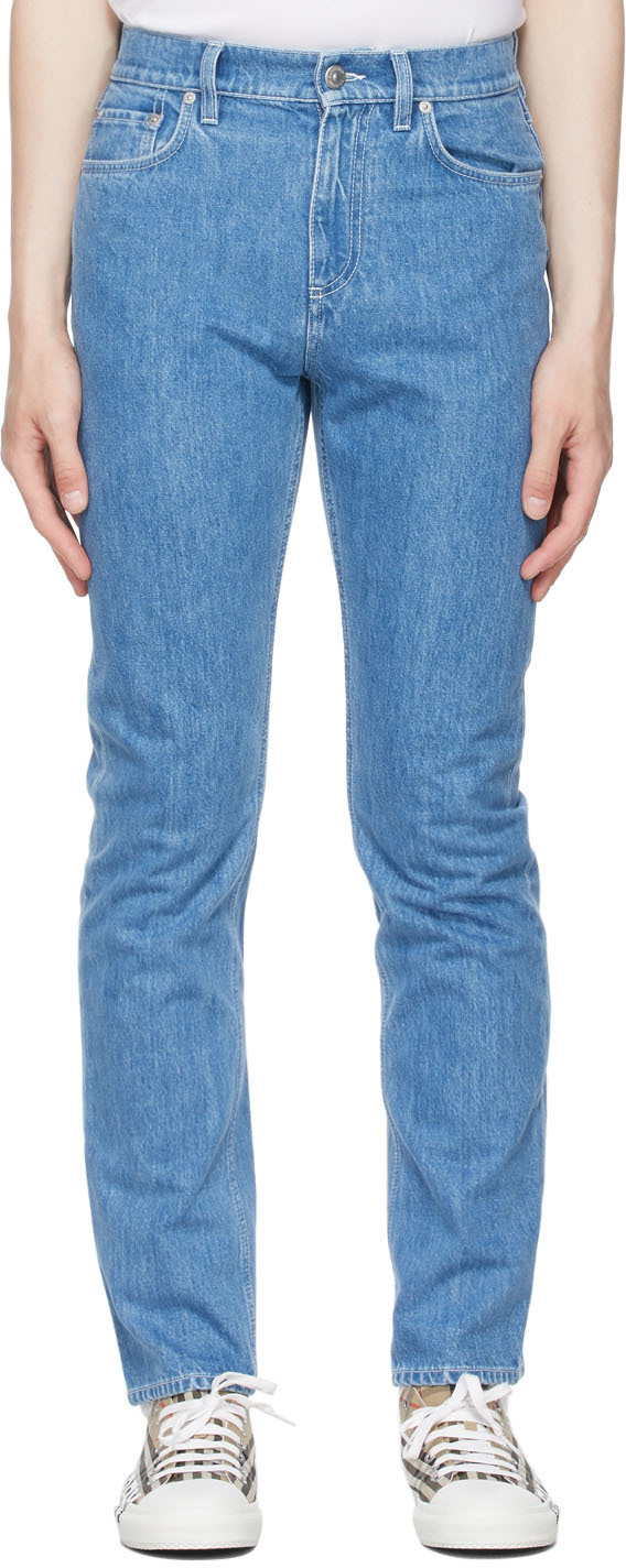 Burberry Blue Straight Fit Jeans