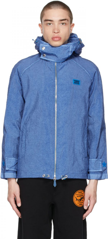 Burberry Blue Technical Canvas Jacket