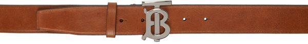 Burberry Brown Calfskin TB Belt