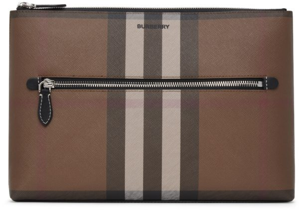 Burberry Brown Check Duncan Pouch