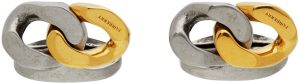 Burberry Gold & Silver Curb Chain Cufflinks