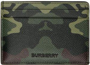Burberry Green Camo Kier Card Holder