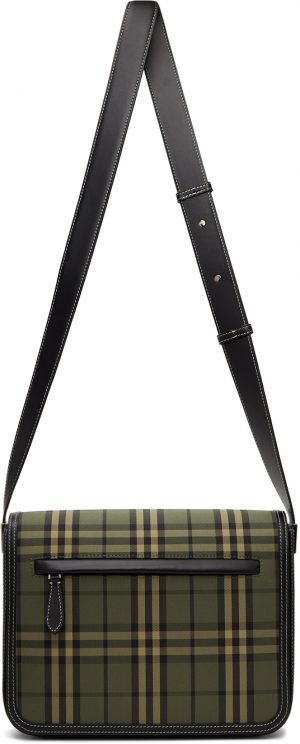 Burberry Green Check Small Olympia Messenger Bag