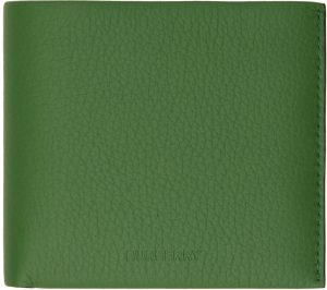 Burberry Green Leather Bifold Wallet