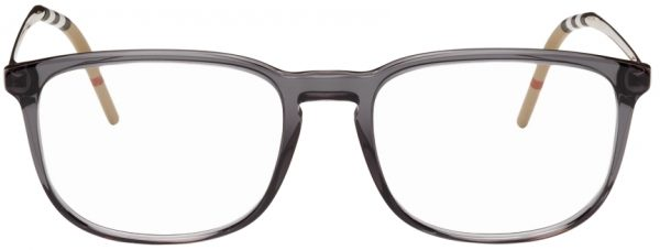 Burberry Grey Acetate Square Glasses