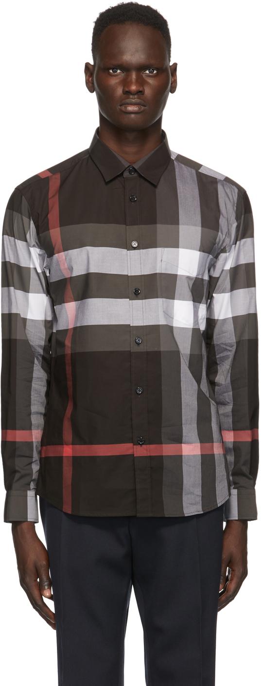 Burberry Grey Check Somerton Shirt