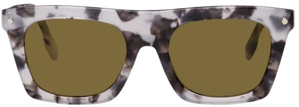 Burberry Grey Marbled Square Sunglasses