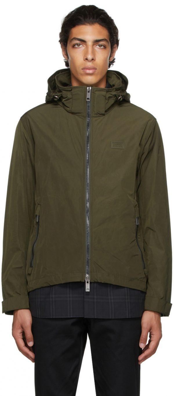 Burberry Khaki Packaway Hood Jacket