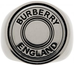 Burberry Logo Graphic Signet Ring
