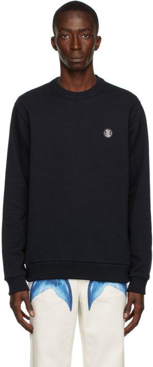 Burberry Navy Monogram Motif Appliqué Sweatshirt