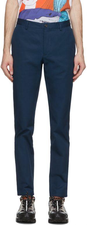 Burberry Navy Shibden Chino Trousers