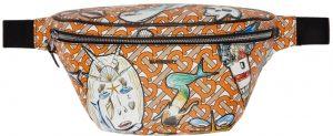 Burberry Orange TB Monogram Cason Bum Bag