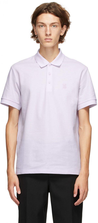 Burberry Purple Eddie Polo
