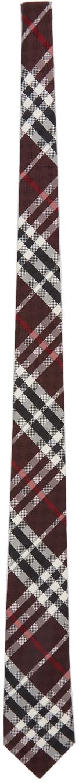 Burberry Red Silk Check Classic Cut Tie