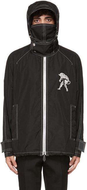 Burberry SSENSE Exclusive Black K-Way Edition Mythical Alphabet Unisex Jacket