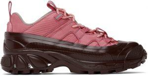 Burberry SSENSE Exclusive Pink Arthur Sneakers