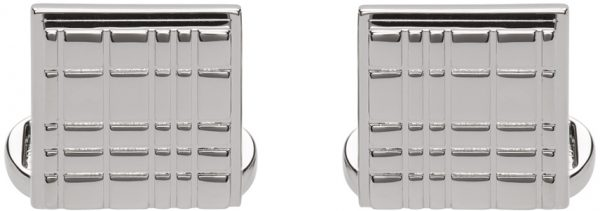 Burberry Silver Square Cufflinks