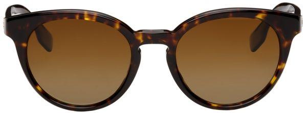 Burberry Tortoiseshell Round Sunglasses