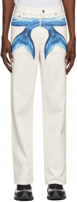 Burberry White Mermaid Tail Jeans