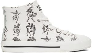 Burberry White Mythical Alphabet Larkhall Sneakers